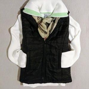 IZOD golf knit sweater white L